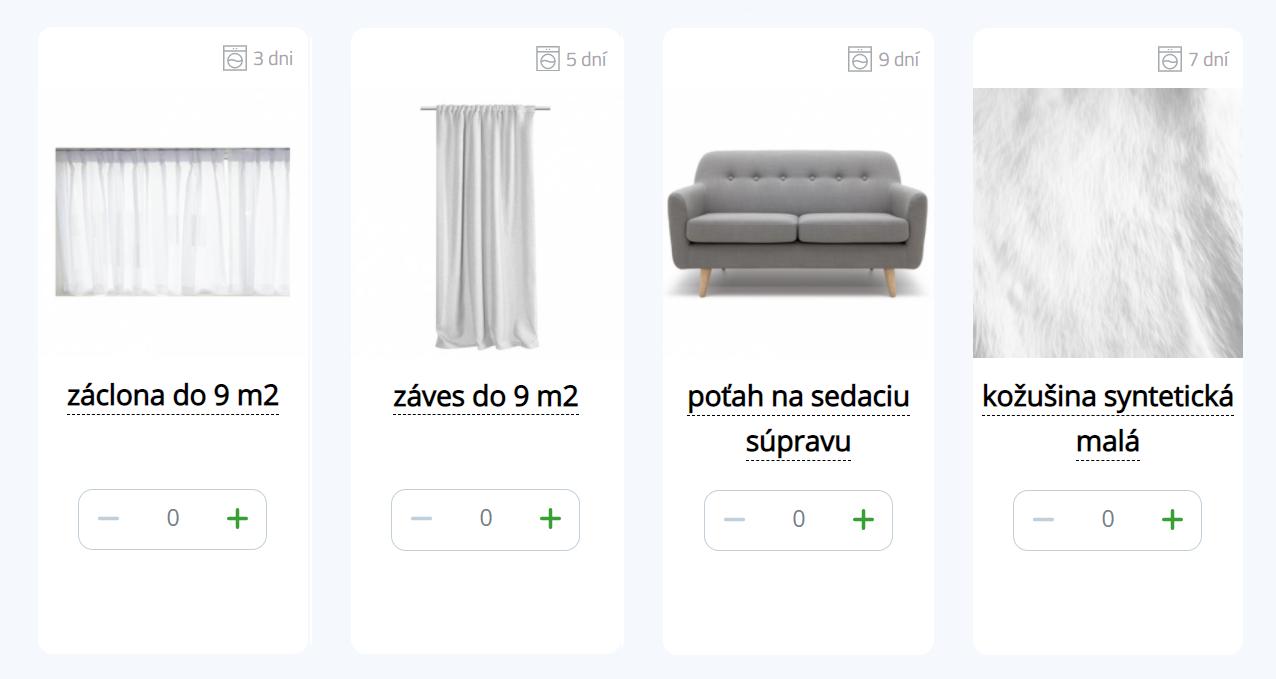 Domáci textil - Obývačka